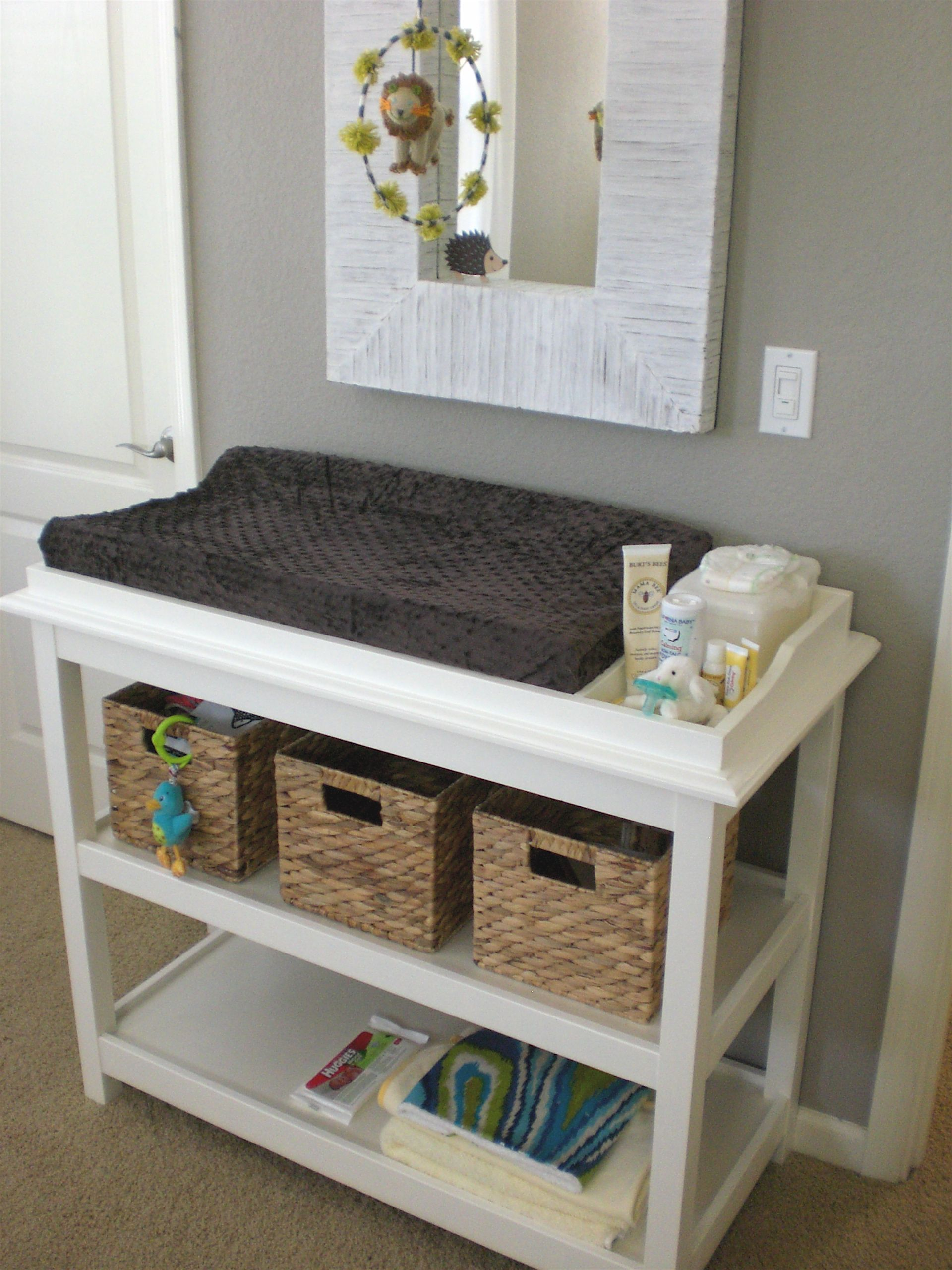 Brilliant Changing Table Storage Ideas Baby Changing Tables Baby Furniture Baby Organization