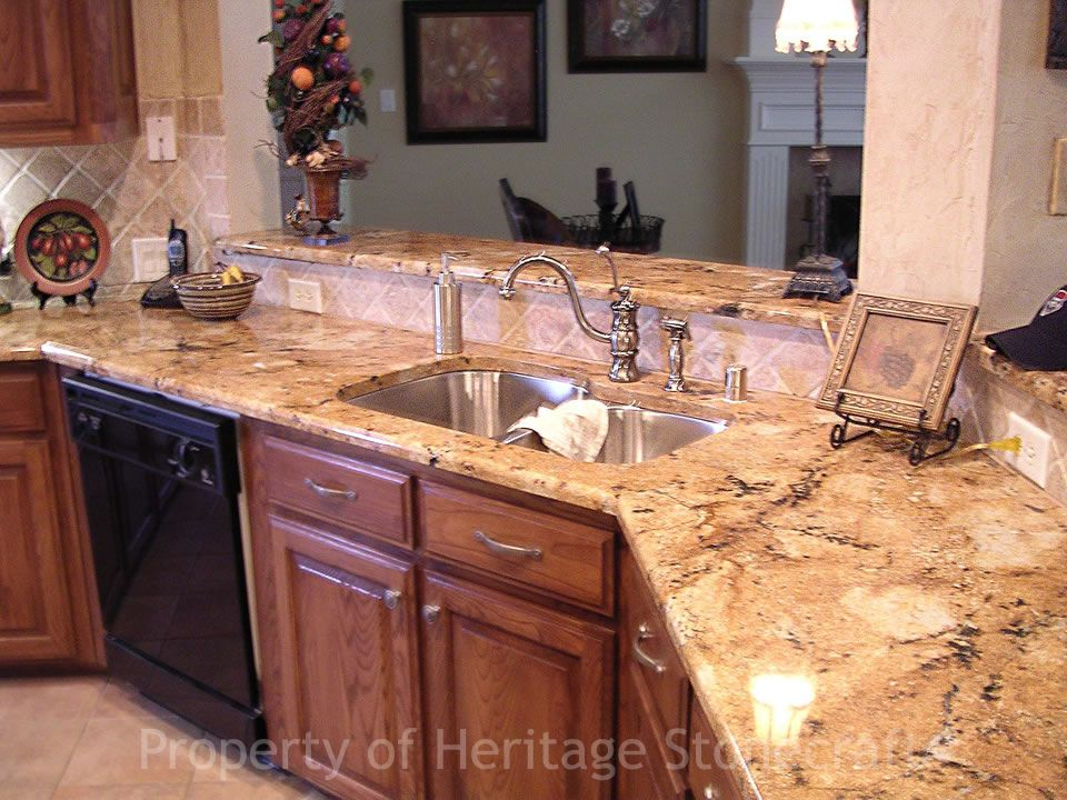 Home Granite Countertops Kitchen Brown Kitchen Cabinets Kitchen Remodel Countertops