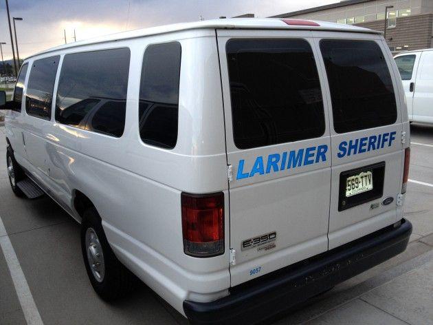Larimer County Sheriff's Office transport van | Firefighters