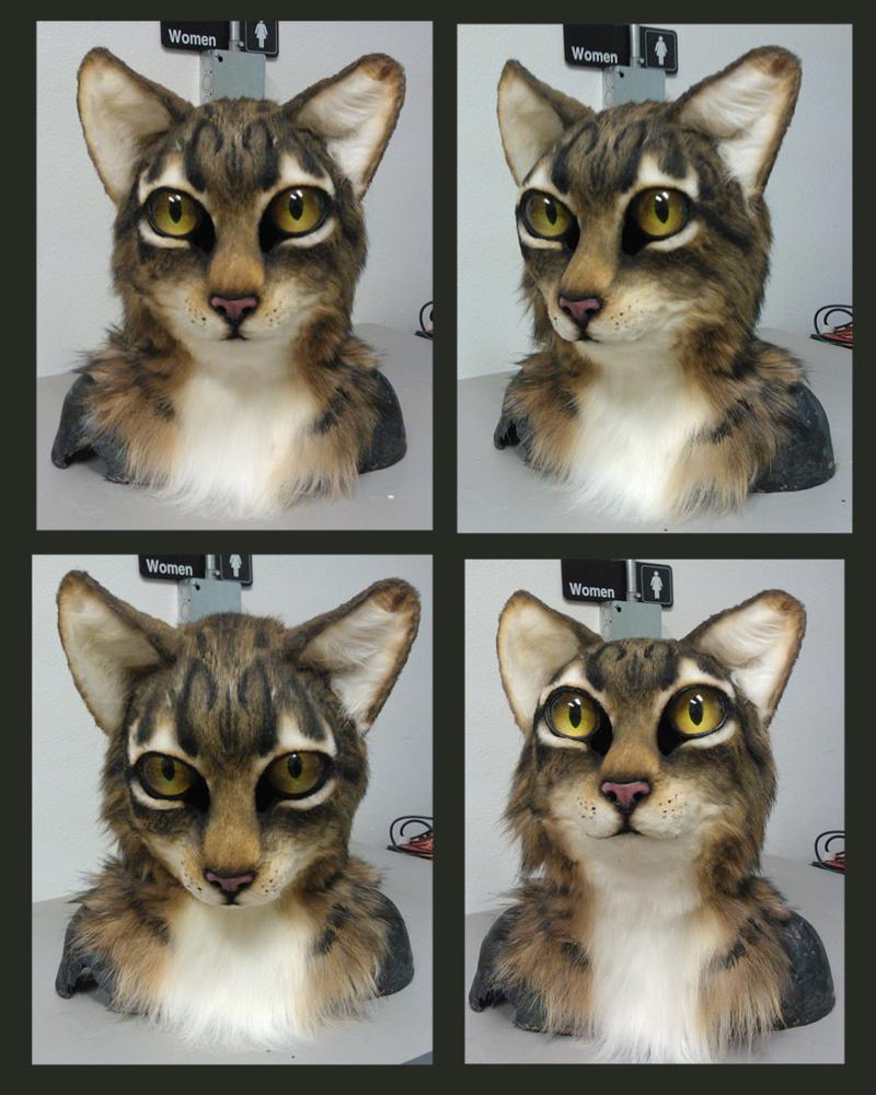 Realistic Cat Head For Sale By Eddie Ka On Deviantart Cat Fursuit Furry Art Fursuit