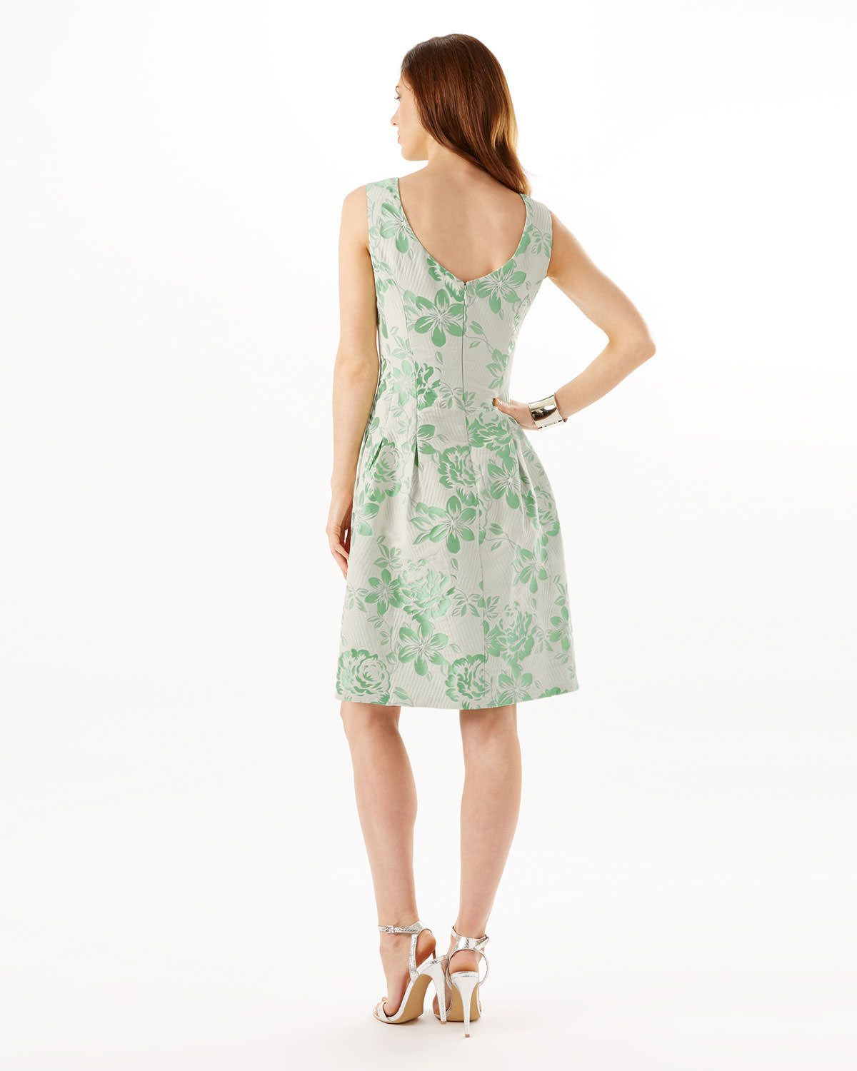 Phase Eight Audrina Jacquard Dress Green