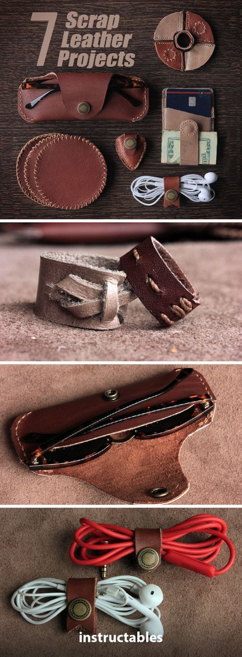 Photo of 7 Leather scrap projects 7 Old leather projects #Leather processing # Accessories The contribution …