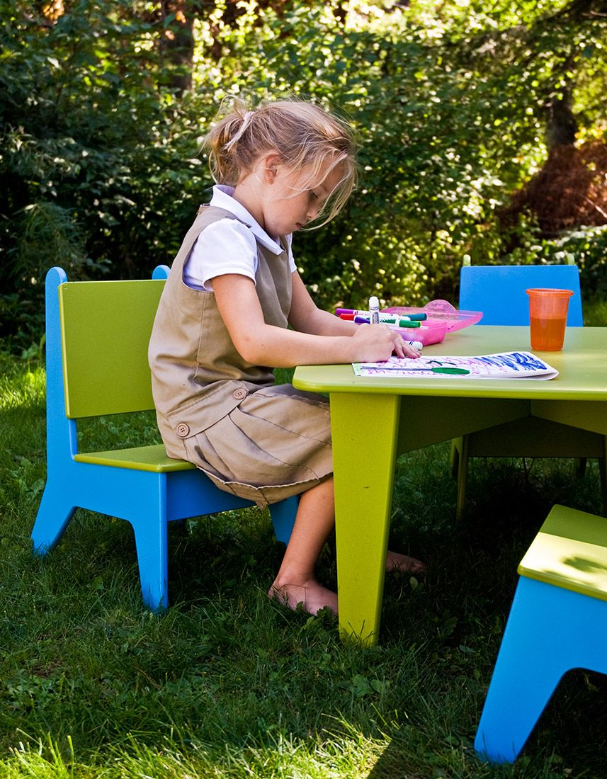 Kids plastic play table for indoor outdoor use loll designs