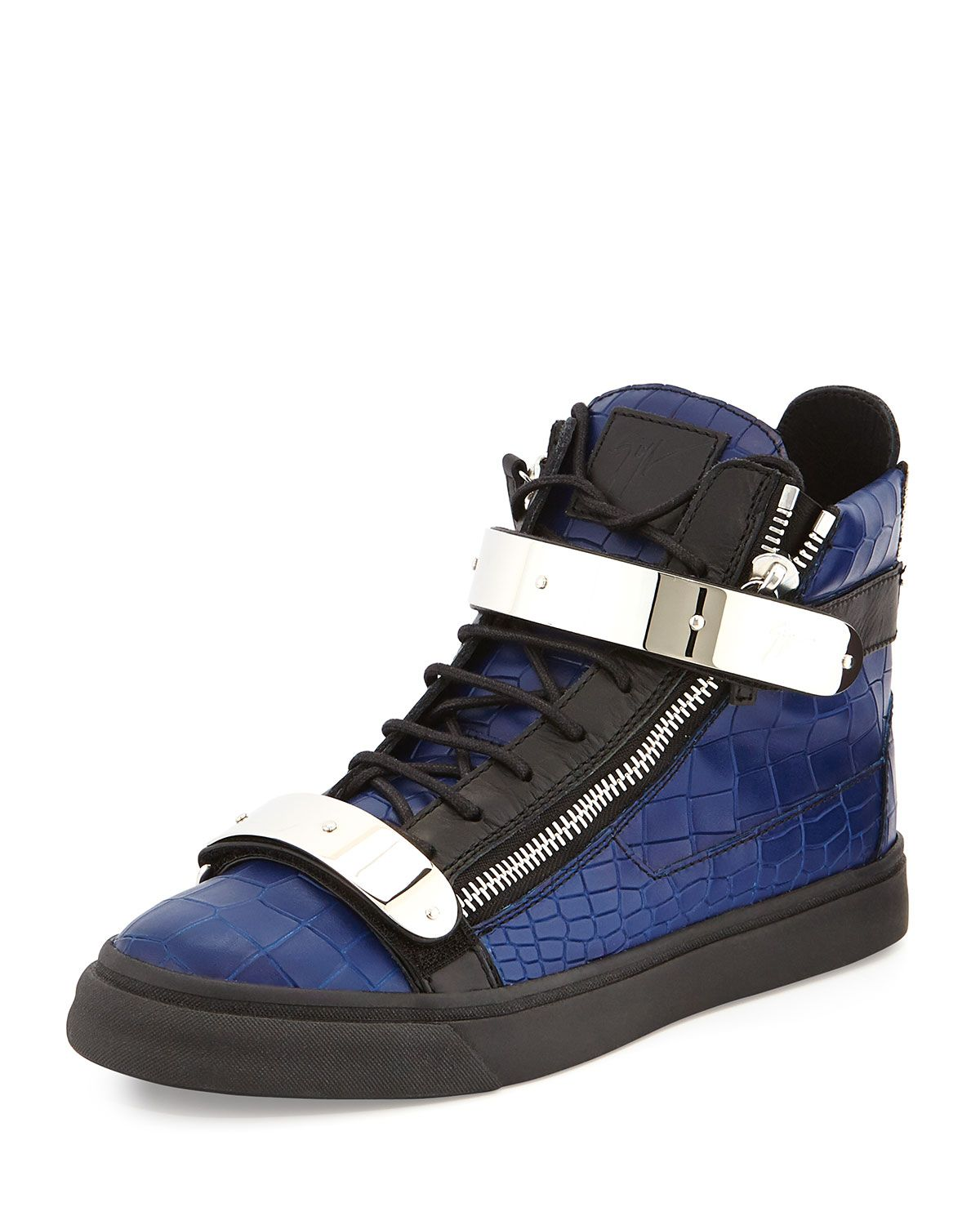 2bf3056e2371 Men s Croc-Embossed High-Top Sneaker