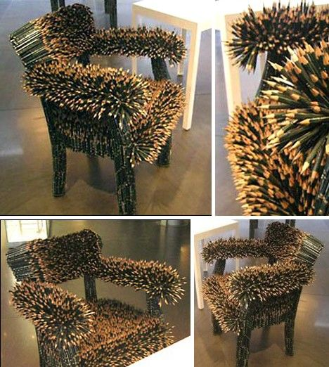 Etonnant Pencil Chair. You Could Say German Artist Kerstin Schulz Might Not Be The  Sharpest Pencil In The Box, But Thatu0027s Understandable As Sheu0027s Worn Out  Every ...