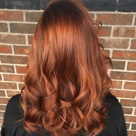 Pumpkin spice hair acajou Cheveux tendance 2017