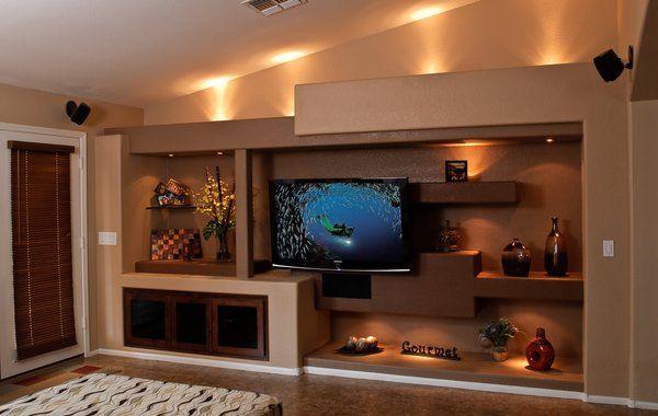 drywall entertainment centers Thunderbird Custom Design Photos