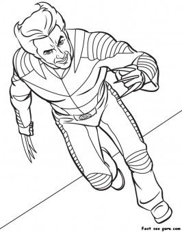 Free Printable superhero x man Wolverine coloring page for kids