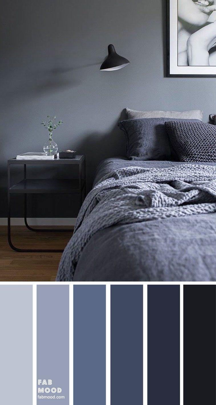 Dunkelblaue graue Schlafzimmerfarbe in 2020