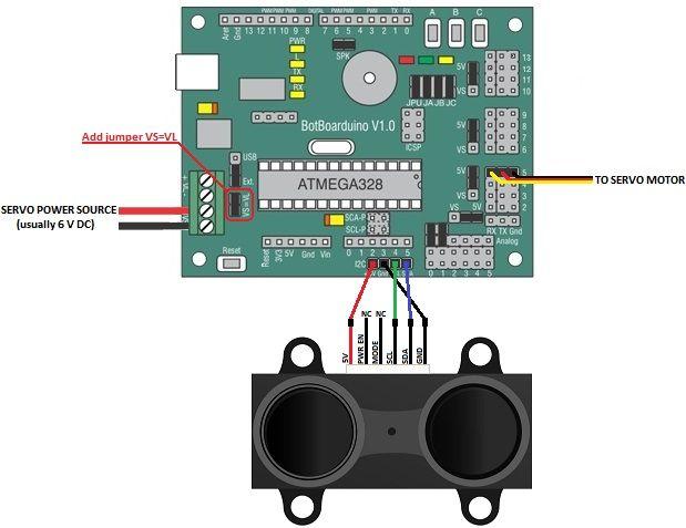 Lidar lite laser rangefinder simple arduino sketch of a