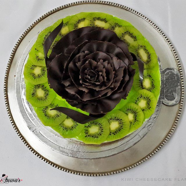Kiwi Cheesecake Flan cheesecake chocolate kiwi fruit birthday