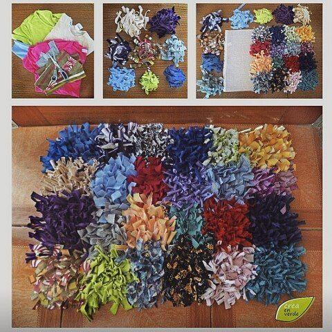 Tapete de retalhos lindo e diferente. #diy #facavocemesmo #artesanato #customizacao #reciclagem #reutilizacao #lifehack #dica #tutorial #howto #idea #decor #decoracao #tapete #costura by facavocemesmoinspire