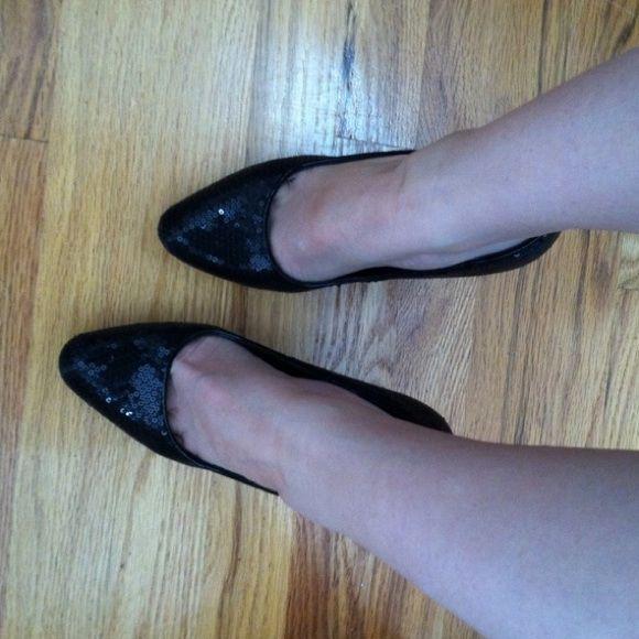 Brand New Black Sequin Heels