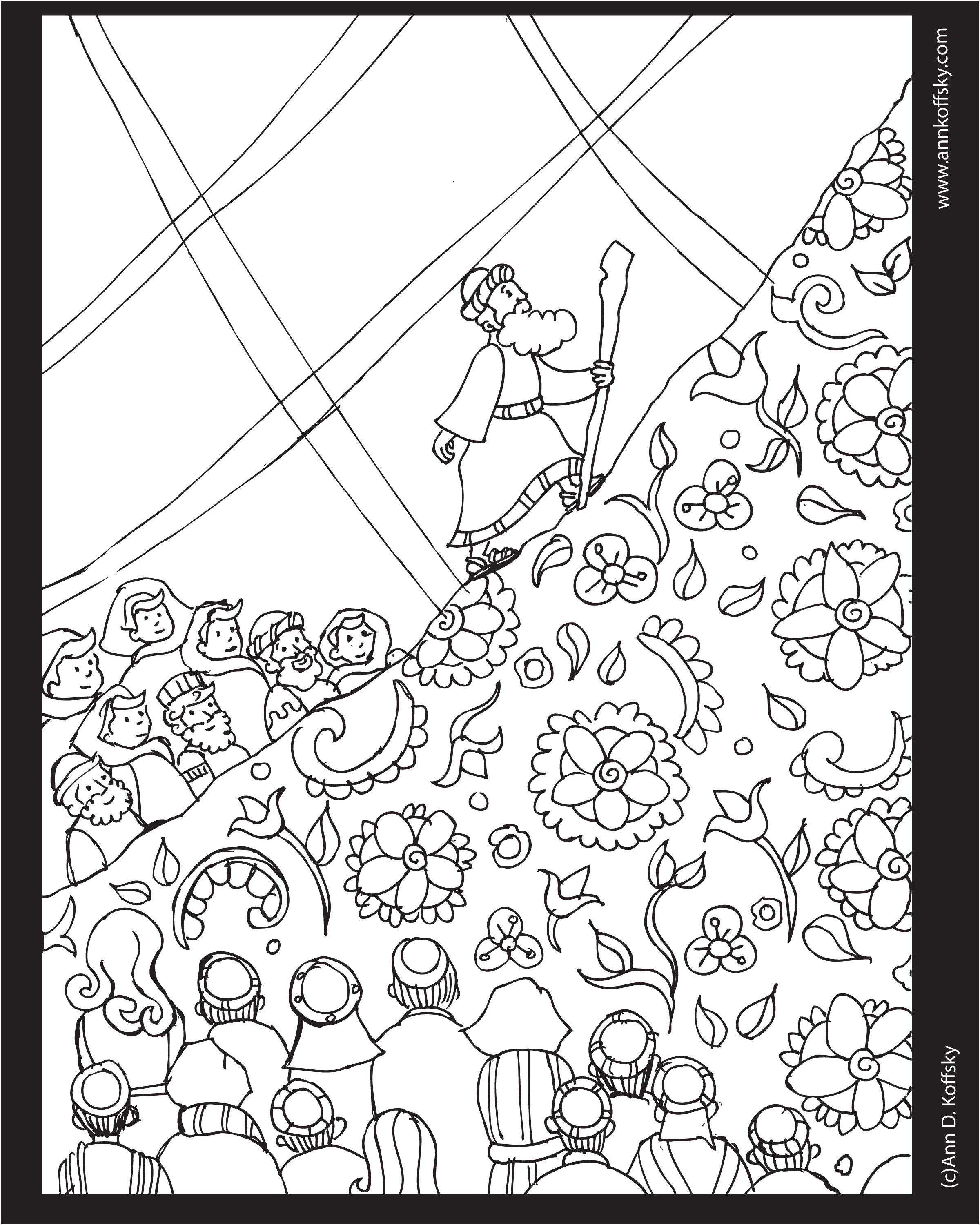 Shavuot Coloring Page With Images Heart Coloring Pages
