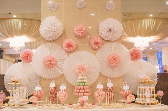 Pompones de papel de seda ideas para decoraci n - Decoracion con pompones ...