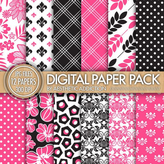 Pretty Pink Black White Damask Floral by aestheticaddiction  https://www.etsy.com/listing/95989215/pretty-pink-black-white-damask-floral?ref=shop_home_active_4