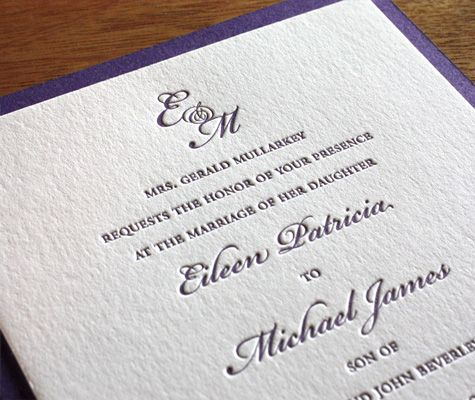 Wedding Invitation Etiquette Monogram Wording Formal Your Invitations