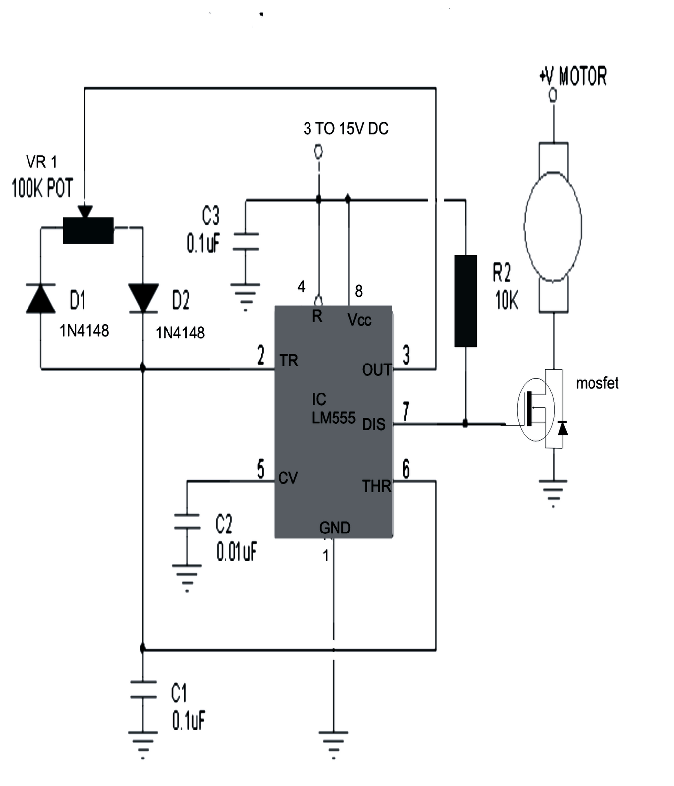 555 Dc Motor Speed Control Pcb Google Search Electronic 200m Fm Transmitter Circuits And Diagramelectronics