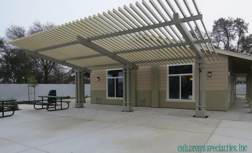 20x30 All Steel Las Vegas Cantilever Pergola From Dunrite Playgrounds Http Www