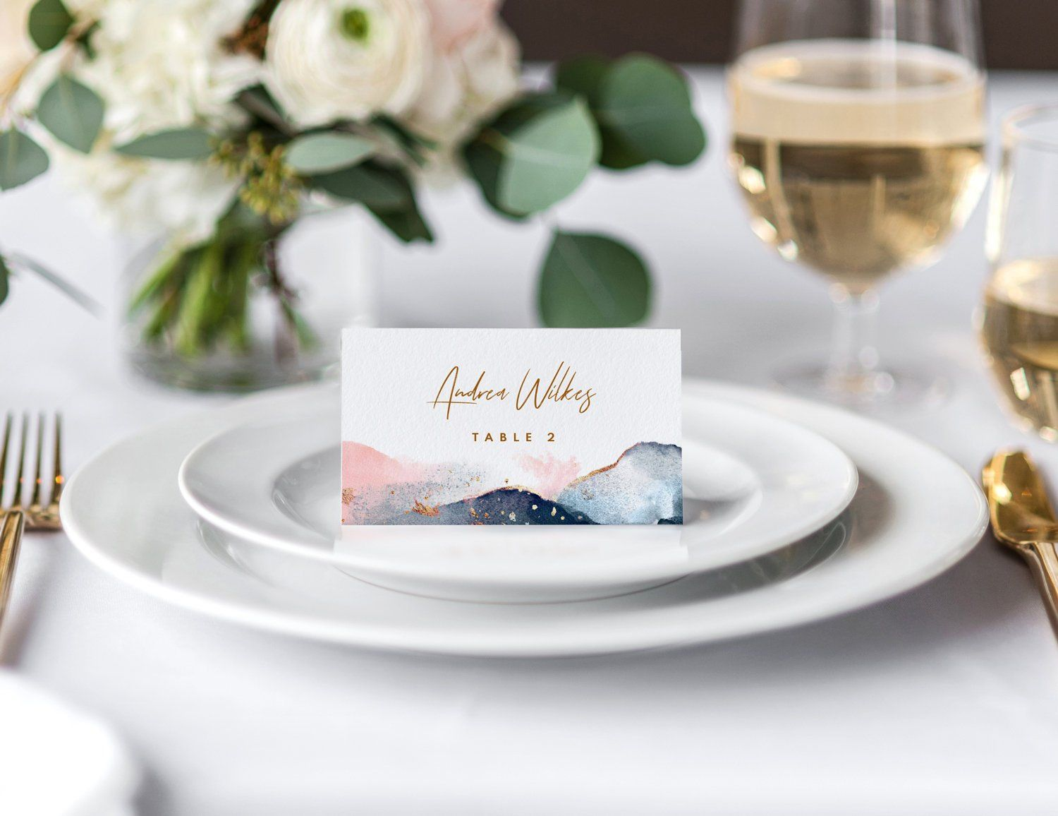 Navy Blush Pink Wedding Place Card Template Tent Etsy Wedding Place Cards Wedding Place Card Templates Wedding Places