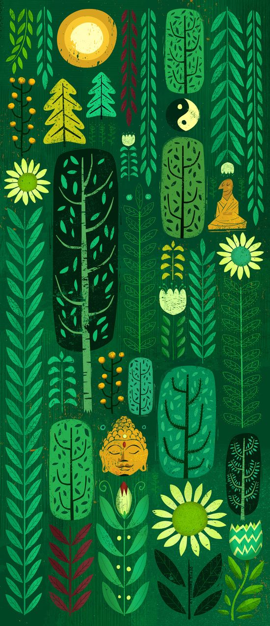 Sacred Forest Art Print By Peter Donnelly Illustration Book Art Projects Forest Art Folk Illustration
