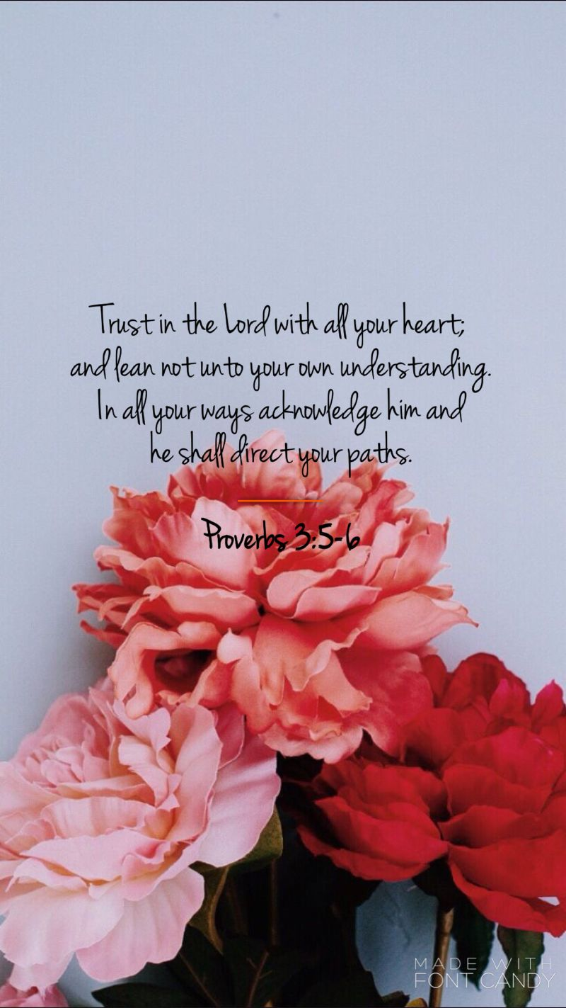 One of many bible verses read at our wedding. ❤ Proverbs 3:5-6 ...