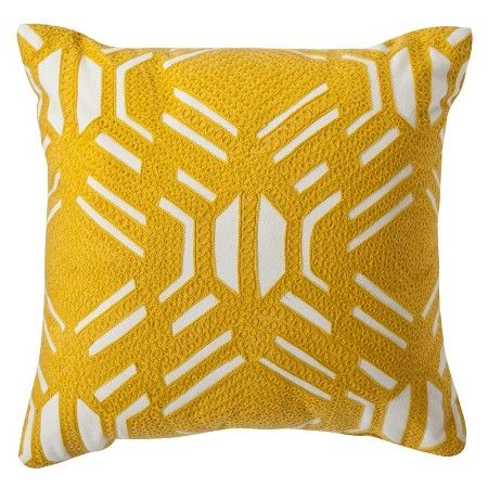 Tufted Sofa Yellow Patterned Decorative Throw Pillow
