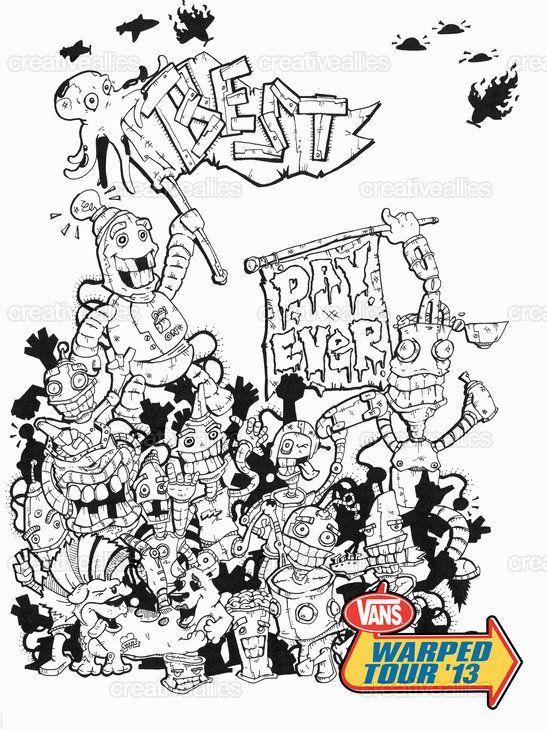 e9eaf0299e Vans Warped Tour Poster by Johnclaudevindiesel on CreativeAllies.com ...