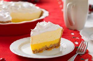 Triple-Layer Eggnog Pie Recipe - Kraft Recipes