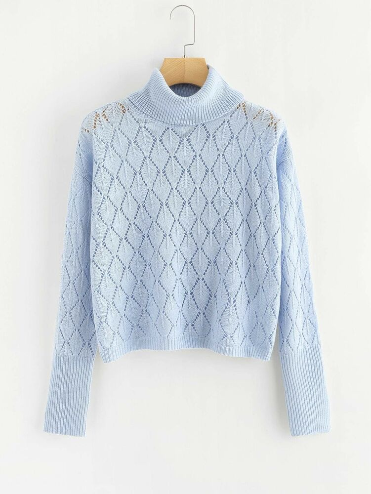 fbe71703b49d Details about Plus Loose Knit Rolled Neck Sweater 2XL-3XL in 2019 ...