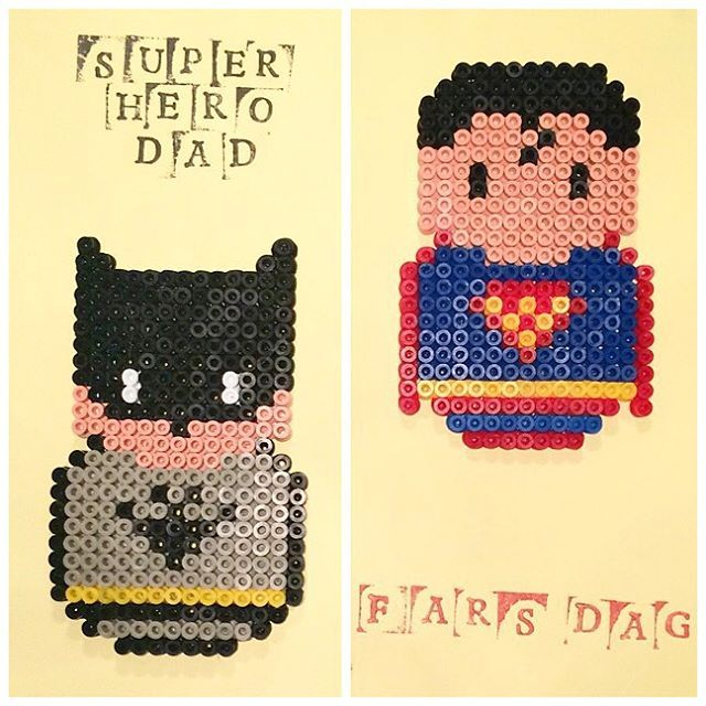 Batman and Superman hama beads by annaidag