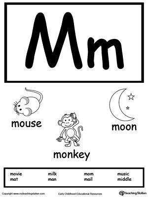 letter m printable alphabet flash cards for preschoolers abc alphabet worksheets alphabet. Black Bedroom Furniture Sets. Home Design Ideas