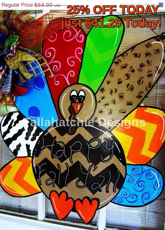 25 Off TODAY Turkey Door Hanger By TallahatchieDesigns On Etsy