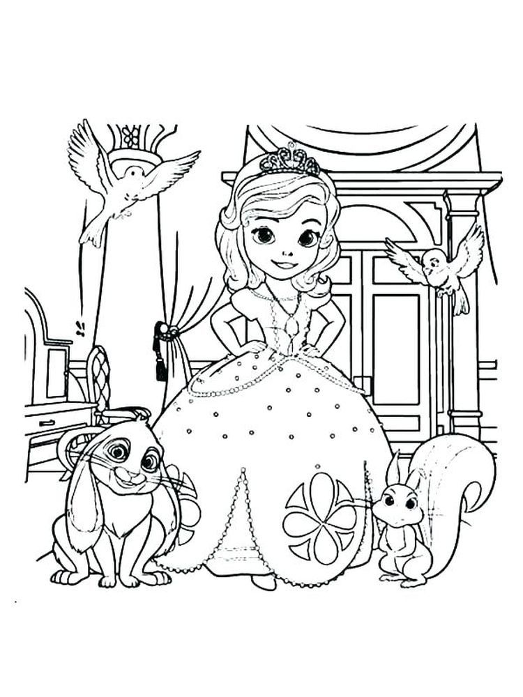 Princess Sofia Coloring Pages Free Pdf The Following Is Our Collection Of Cute Princess S Disney Coloring Pages Mermaid Coloring Pages Princess Coloring Pages
