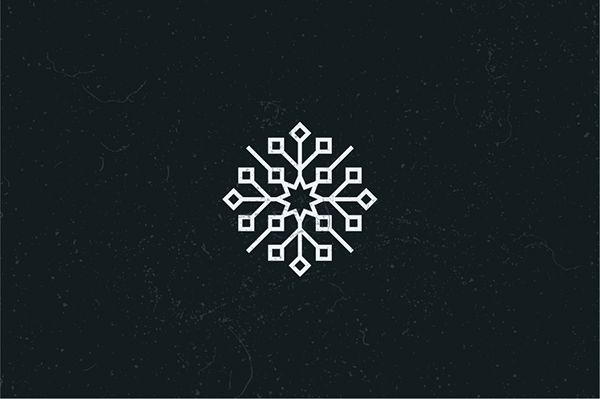 Stylised snowflake collection on Behance