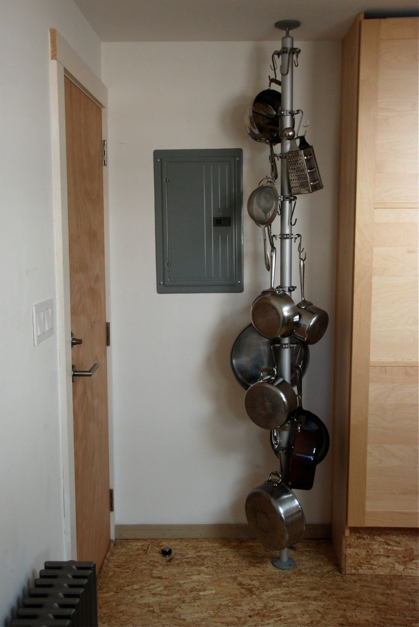 Vertical Pot Rack Built With Ikea Parts