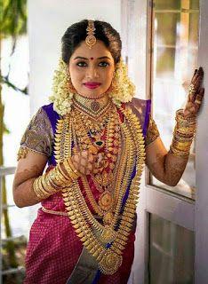 Wedding Saree And South Indian Bride Indian Bridal Fashion South Indian Bride Bridal Jewellery Indian