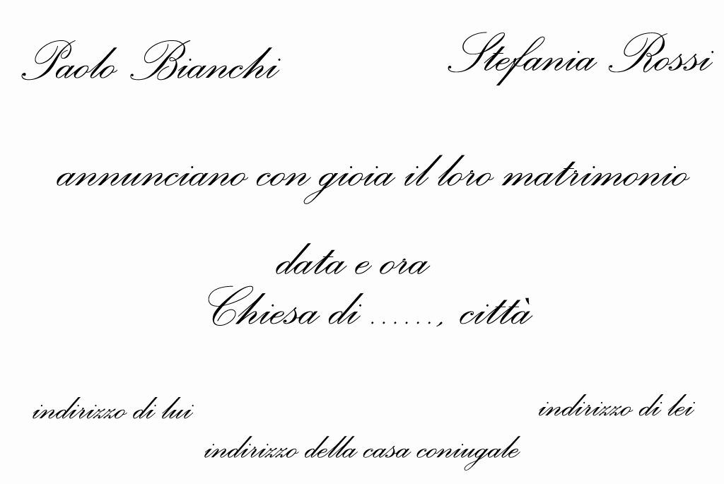 [PDF]Cosa scrivere nelle Partecipazioni esempi e caratteri - frasi partecipazioni matrimonio esempi