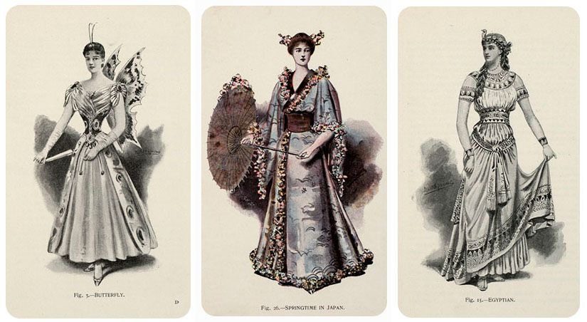 From a book of Victorian Masquerade costumes found at Isis' Wardrobe