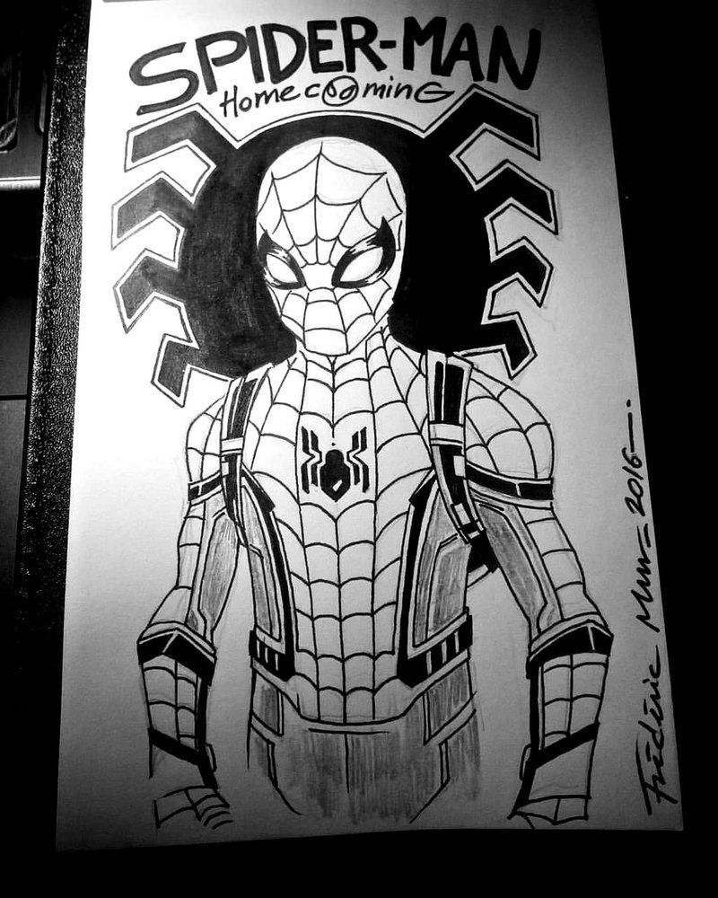 Spider Man Homecoming By Frederic Mur Deviantart Com On Deviantart Spiderman Homecoming Drawing Spiderman Spiderman Drawing