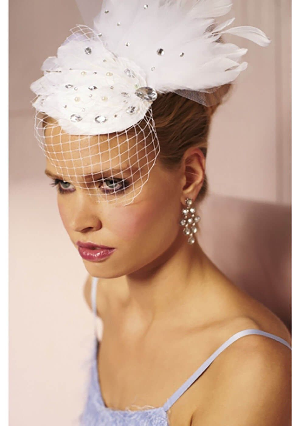 City Forever Romance Feather Fascinator Wit