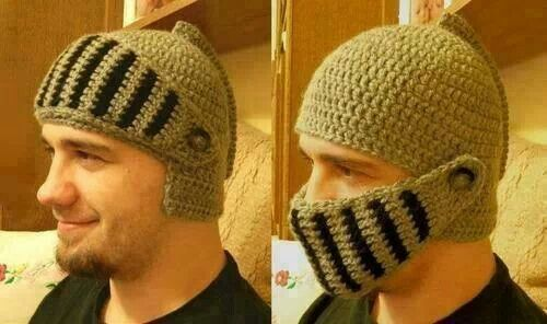 Crochet knight helmet (just the picture) | Fun! | Pinterest
