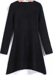 Black Long Sleeve Knit Sweater