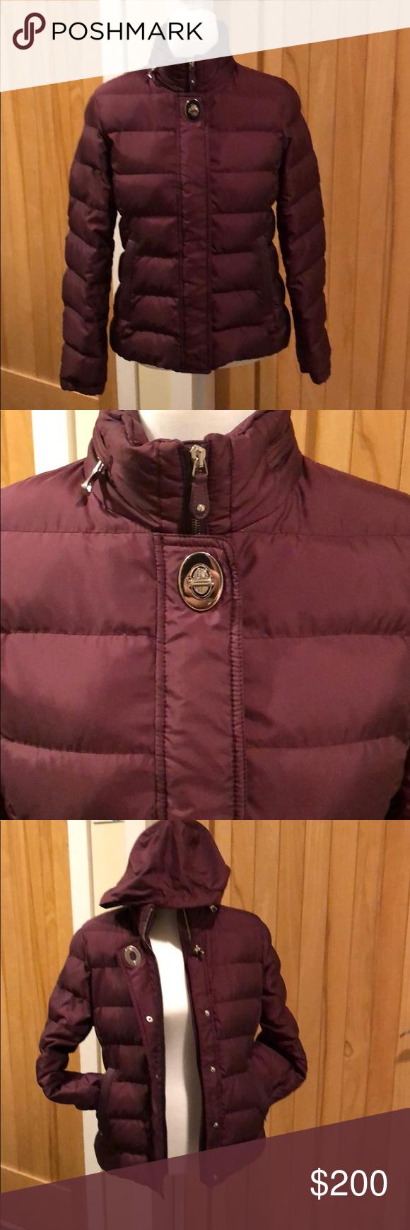 Coach Women's Ruby Down Jacket w/ leather trim Down