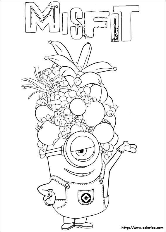 coloriage les minions à colorier dessin à imprimer dessins à