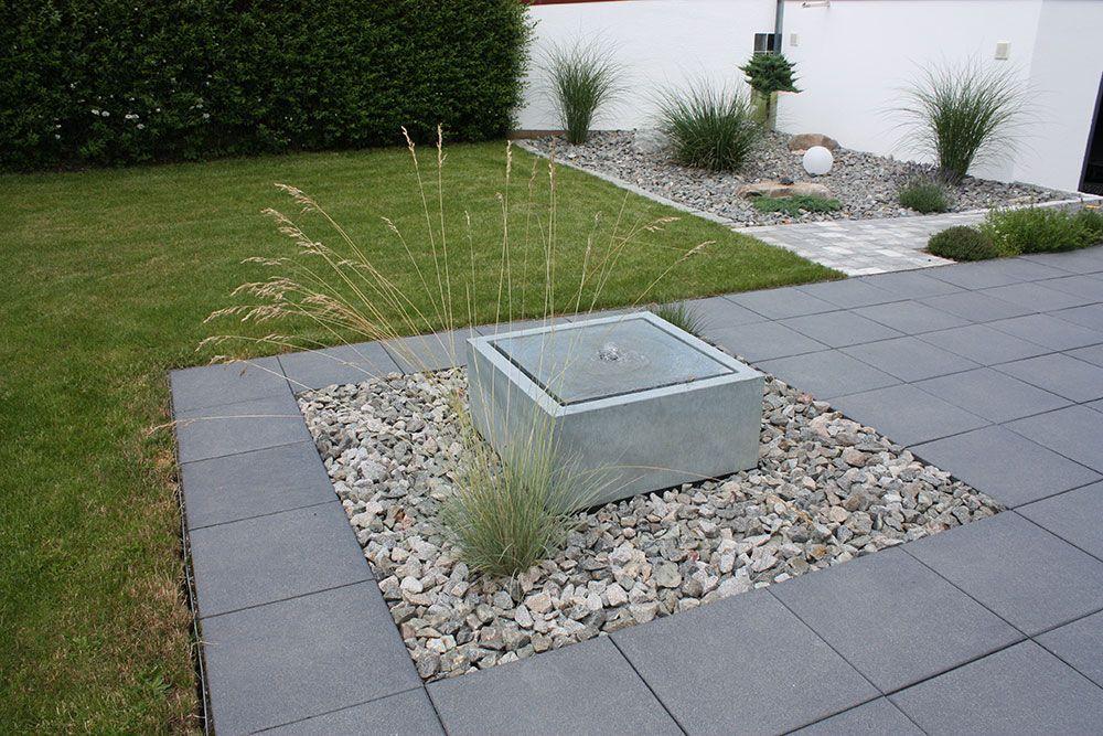 GROSSER DESIGN-GARTENBRUNNEN ALUMENTO 100 Referenzen Garten - wasserbecken kunststoff rechteckig