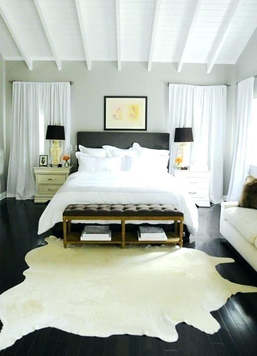 Cowhide Rug Bedroom Decor Cowhide Rug Bedroom Cream And