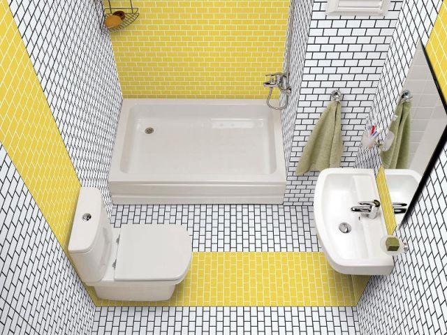 Carrelage  10 inspirations originales pour ma salle de bains - carrelage salle de bain petit carreaux