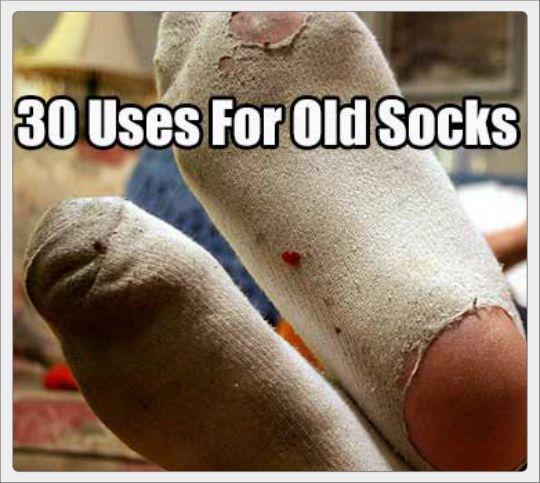 30 Uses for Old Socks | The Best Prepper Blogs | Sock crafts, Diy