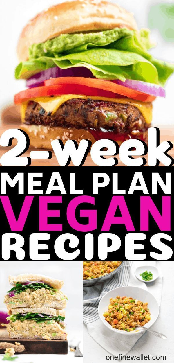 2-week Vegan Meal Prep Dinner Recipes #plantbasedrecipesforbeginners